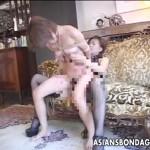 【レズ女性向け動画】女王様が緊縛されたドMお姉さんにバックからペニバン挿入調教するSMセックス