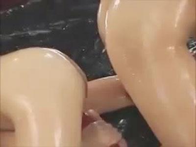 【レズ女性向け動画】超気持いい!全身ヌルテカローションディルドレズ