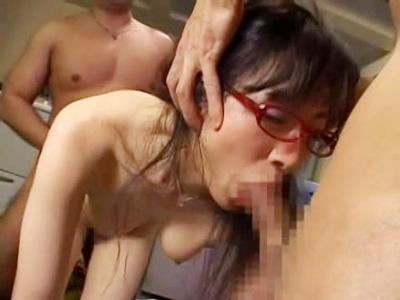 【AV女性向け動画】OL上司を3P乱交で凌辱レイプ!嫌がるおまんこをクンニしまくり