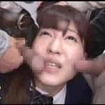 【盗撮女性向け動画】素人制服女子校生を集団痴漢手マンで大量潮吹きさせフェラチオまで!