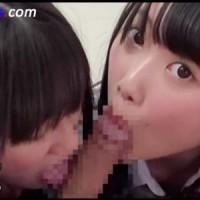 【フェラチオ女性向け動画】二人の制服女子校生が乳首を責めながらおちんぽ奪い合いフェラ手コキ3P