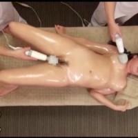 【エステ女性向け動画】オイルエステで電ママッサージをされエビ反り絶頂を繰り返す巨乳お姉さん