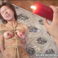 【レズ女性向け動画】緊縛されたM女が女王様からのSM調教!蝋燭を垂らし、濡れ濡れのおまんこをクンニ責め