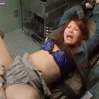【電マ女性向け動画】拘束され電マで痙攣、失神するまで責められ続け絶叫するギャル